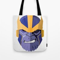 thanos Tote Bags featuring Thanos by Micah Lanier