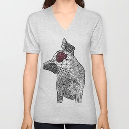 Penelope the Pig Unisex V-Neck