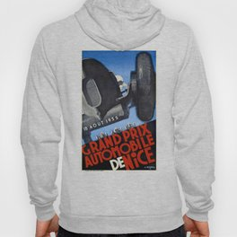 1935 Nice France Automobile Grand Prix Poster Hoody