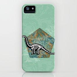 Brachiosaurus Fossil iPhone Case
