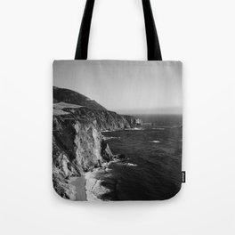 Monochrome Big Sur Tote Bag