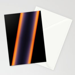 Black Stripes Stationery Cards