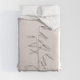 Japanese style plant illustration - Olivia I Duvet Cover