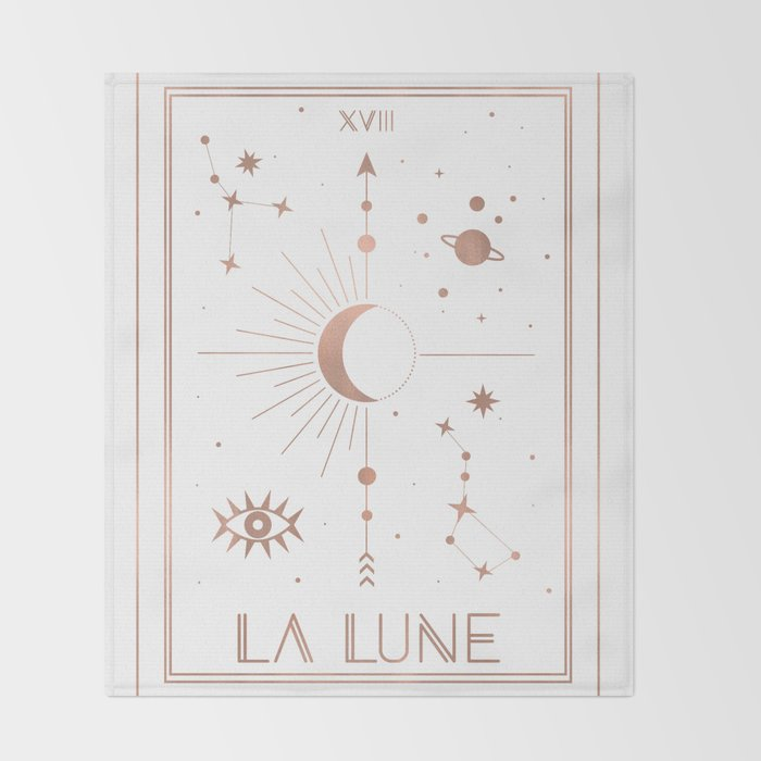 La Lune or The Moon White Edition Throw Blanket