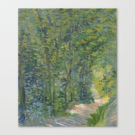 """Vincent Van Gogh """"Path in the Wood"""" Canvas Print"""