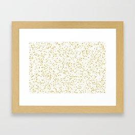Gold Confetti Dots Pattern Framed Art Print