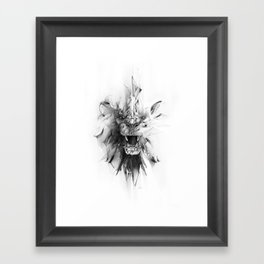 STONE LION Framed Art Print