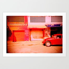 Punchbuggy Red Art Print
