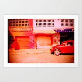 Punchbuggy Red Art Print