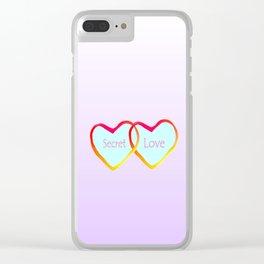 Secret Love Clear iPhone Case