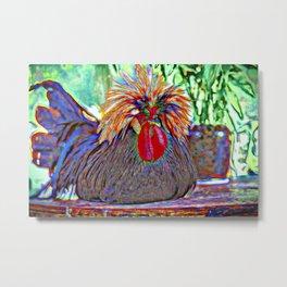 Electric Rooster Metal Print