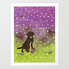 Labrador Retriever Watercolour Art Print