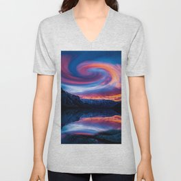 Milky Way Galaxy Unisex V-Neck