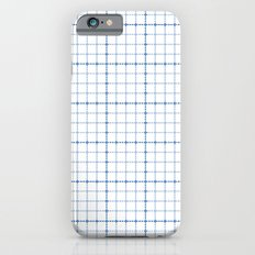 Dotted Grid Weave Blues Slim Case iPhone 6s