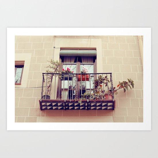 Terrazas del Gotico Art Print