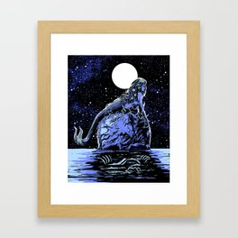 Mermaid Skull Framed Art Print