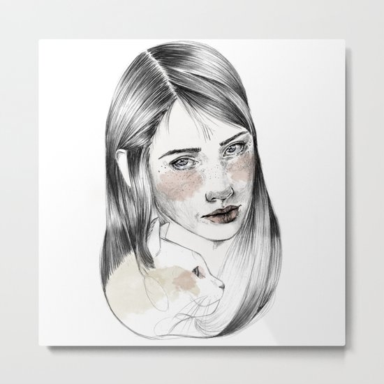 Cat person Metal Print