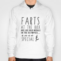 "crossfit Hoodies featuring ""Farts at the box are like gold medals in the olympics...rare and special"" Crossfit T-shirt by The Comical CrossFitter"