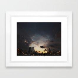 Strike Framed Art Print