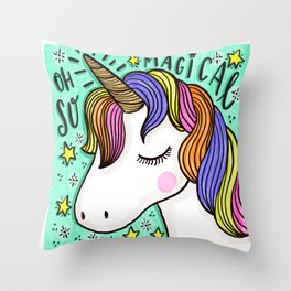 Magical Unicorn Throw Pillow