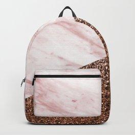 Golden age - elegant pink marble Backpack