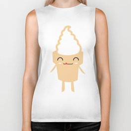 CUTE YUMMY SOFT SERVE ICE CREAM Biker Tank