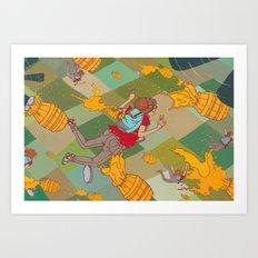 Juicy Plunge Art Print