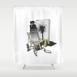 Suicidal Paint Shower Curtain