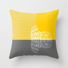 Rome In Yellow Throw Pillow