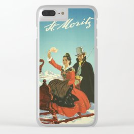 Vintage poster - St. Moritz, Switzerland Clear iPhone Case