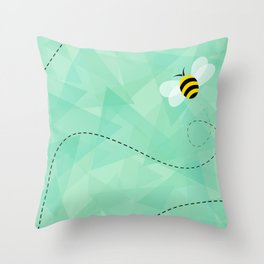 BUZZ OFF Throw Pillow