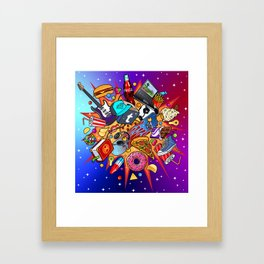 teenage explosion 2 Framed Art Print