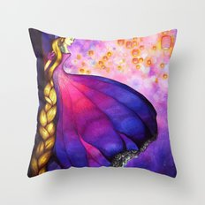 Rapunzel and Lanterns Throw Pillow