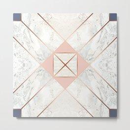 Copper & Marble & Pastel 05 Metal Print