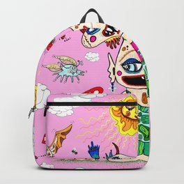 Little Baby Girl She-Beast and Friends, Pink Backpack