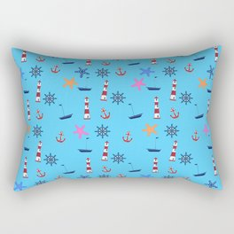 Nautical Beach Pattern Rectangular Pillow
