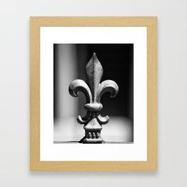 Single Fleur de Lis Fencepost, New Orleans Framed Art Print