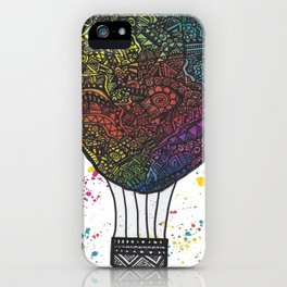 Colourful Hot Air Ballon iPhone Case