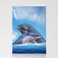 dolphins Stationery Cards featuring Dolphins by Susann Mielke