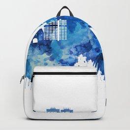 Mainz Germany Skyline Blue Backpack