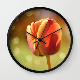Bokeh Tulip Wall Clock