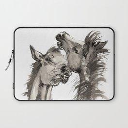Arabian foals ink art Laptop Sleeve