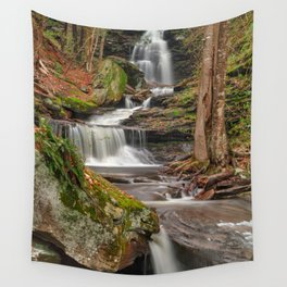 Ricketts Glen Waterfall Layers Wall Tapestry