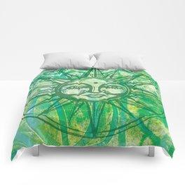 Sun Face - MonoPrint Comforters