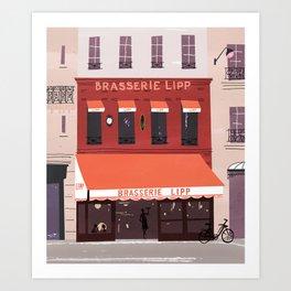 Brasserie lipp Art Print