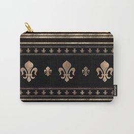 Fleur-de-lis Luxury ornament - black and gold Carry-All Pouch