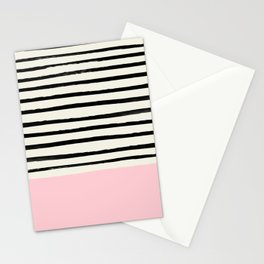 Millennial Pink x Stripes Stationery Cards