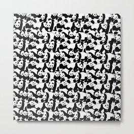 Panda pattern Metal Print