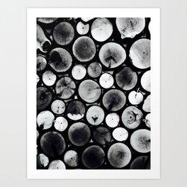 Black& White Wood Art Print