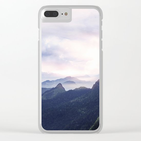 Silent sunset II Clear iPhone Case